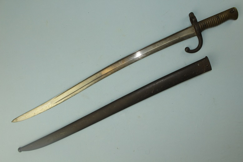 French Model 1866 Chassepot Yataghan Sword Bayonet Dated 1867 www.swordsantiqueweapons.com