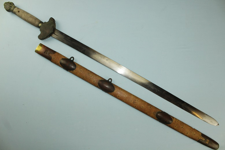Chinese sword Jian Broadsword Painted scabbard Dao Dadao spear glaive epee www.swordsantiqueweapons.com