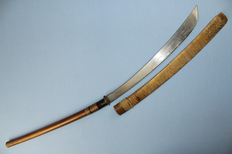 Laos Daab Long handled chopper Ngao Thai sword dah darb Krabi www.swordsantiqueweapons.com